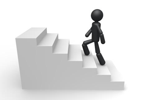 階段を1つずつ登る