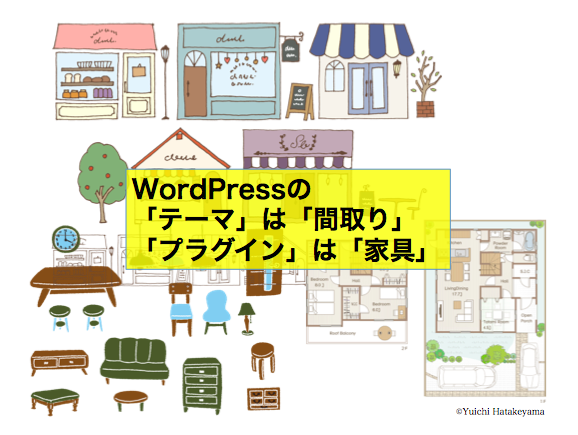 WordPressのテーマは間取り、プラグインは家具